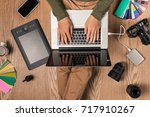 top view of photographer at... | Shutterstock . vector #717910267