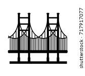 golden gate bridge icon | Shutterstock .eps vector #717917077