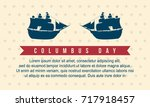 happy columbus day style... | Shutterstock .eps vector #717918457