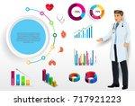 medical infographic elements... | Shutterstock .eps vector #717921223