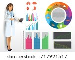 medical infographic elements... | Shutterstock .eps vector #717921517