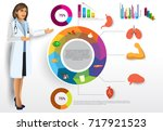 medical infographic elements... | Shutterstock .eps vector #717921523