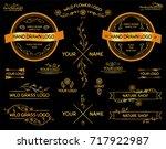 vector set of hand drawn... | Shutterstock .eps vector #717922987