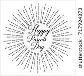 happy parents day  text design. ... | Shutterstock .eps vector #717924373