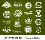 100  organic logo. collection... | Shutterstock .eps vector #717932683