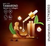 tamarind serum or collagen and... | Shutterstock .eps vector #717938503