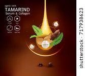 tamarind serum or collagen and...   Shutterstock .eps vector #717938623