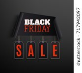 black friday sale abstract... | Shutterstock . vector #717942097