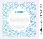 neurology concept with thin... | Shutterstock .eps vector #717945193