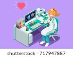 doctor cartoon. medic... | Shutterstock . vector #717947887