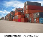 container | Shutterstock . vector #717952417