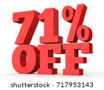 seventy one percent off.... | Shutterstock . vector #717953143
