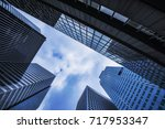 business and finance center... | Shutterstock . vector #717953347