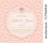 vector vintage wedding... | Shutterstock .eps vector #717960943