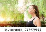 beautiful smiling young girl... | Shutterstock . vector #717979993