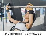 fitness woman in training... | Shutterstock . vector #717981313