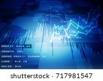 2d rendering stock market... | Shutterstock . vector #717981547