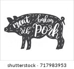 vector illustration with pig... | Shutterstock .eps vector #717983953