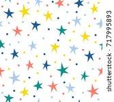 abstract star seamless pattern... | Shutterstock .eps vector #717995893