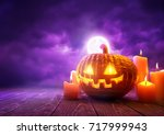 A Glowing Pumpkin Jack O...