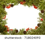 christmas framework with... | Shutterstock . vector #718024093