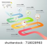 design infographic template 6... | Shutterstock .eps vector #718028983