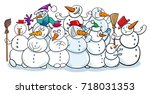 cartoon vector illustration of... | Shutterstock .eps vector #718031353