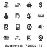 pawn shop vector icons for user ... | Shutterstock .eps vector #718031473