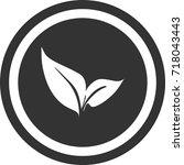 tea leaves sign  dark round...   Shutterstock .eps vector #718043443