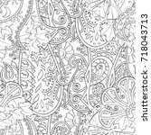 tracery seamless pattern....   Shutterstock .eps vector #718043713