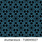 decorative seamless geometric... | Shutterstock .eps vector #718045027