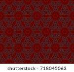 seamless modern vector...   Shutterstock .eps vector #718045063