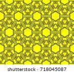 seamless modern vector...   Shutterstock .eps vector #718045087
