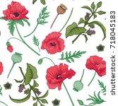 seamless pattern  background...   Shutterstock .eps vector #718045183