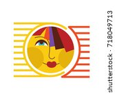 sun vector. sun icon   Shutterstock .eps vector #718049713