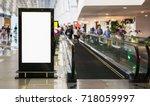 blank billboard posters in the... | Shutterstock . vector #718059997