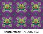 summer design. raster flower...   Shutterstock . vector #718082413