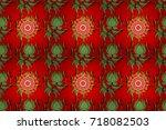 vintage raster floral seamless...   Shutterstock . vector #718082503
