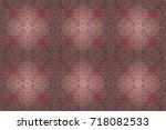 blooming jungle. motley raster...   Shutterstock . vector #718082533