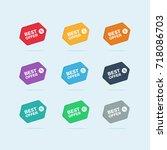 set of colorful best offer... | Shutterstock .eps vector #718086703