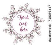 floral greeting card with...   Shutterstock .eps vector #718098667