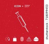 medical syringe icon | Shutterstock .eps vector #718099453