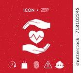 hands holding heart. medical... | Shutterstock .eps vector #718102243