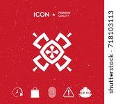 geometric oriental pattern.... | Shutterstock .eps vector #718103113