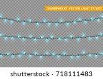 christmas lights isolated... | Shutterstock .eps vector #718111483