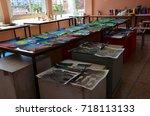 casablanca  morocco   17... | Shutterstock . vector #718113133