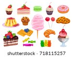 vector set confectionery and...   Shutterstock .eps vector #718115257