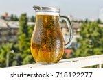 fresh kraft beer jugs | Shutterstock . vector #718122277