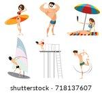 vector illustration of six... | Shutterstock .eps vector #718137607