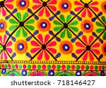 indian handicraft background... | Shutterstock . vector #718146427